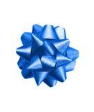 Arco blu del regalo fotografie stock libere da diritti