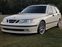 Arco branco 95 2004 de Saab Imagem de Stock Royalty Free