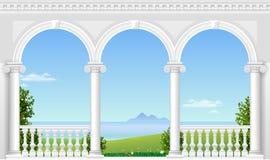 Arco branco do palácio ilustração royalty free