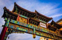 Arco in Chinatown, Washington, DC Fotografia Stock Libera da Diritti