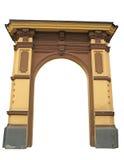 Arco clássico isolado no fundo branco foto de stock