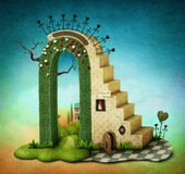 Arco com escadas Imagens de Stock Royalty Free