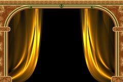 Arco com ornamento e curtai ilustração royalty free