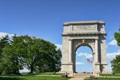 Arco commemorativo nazionale alla forgia della valle immagini stock libere da diritti
