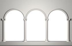 Arco con las columnas Fotografía de archivo libre de regalías
