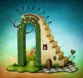 Arco con las escaleras Imágenes de archivo libres de regalías