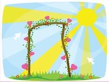 Arco con los corazones Imagen de archivo libre de regalías