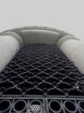 Arco concreto da arquitetura de para baixo foto de stock