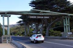 Arco conmemorativo del gran camino del océano en Victoria Australia foto de archivo libre de regalías