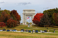 Arco conmemorativo nacional en la fragua del valle Foto de archivo