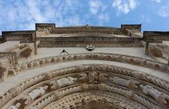 Arco constructivo pródigo adornado de la fachada Imagen de archivo libre de regalías