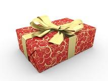 Arco cosy rosso del contenitore di regalo Illustrazione di Stock