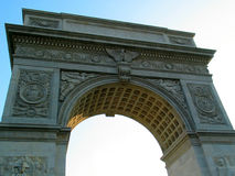 Arco cuadrado de Washington, de debajo Foto de archivo libre de regalías