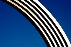 Arco d'argento del metallo Fotografia Stock Libera da Diritti