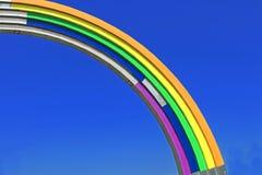 Arco da amizade dos povos, pintada nas cores do arco-íris, à vista da competição Eurovision-2017 da música Imagens de Stock Royalty Free