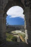 Arco da arena nos Pula Fotografia de Stock
