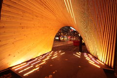 Arco da cidade da noite Foto de Stock Royalty Free
