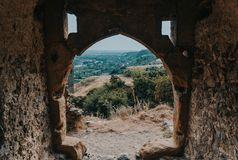 Arco da citadela de Șiria, Romênia Fotografia de Stock Royalty Free