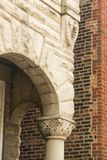 Arco da entrada da casa fotografia de stock