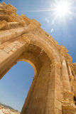 Arco da entrada, Jerash Fotos de Stock Royalty Free