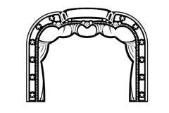Arco da entrada no fundo branco Projeto da ilustra??o ilustração royalty free