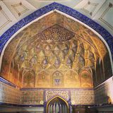 Arco da mesquita em Usbequistão Fotos de Stock Royalty Free