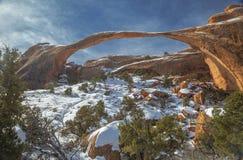 Arco da paisagem no inverno Foto de Stock Royalty Free