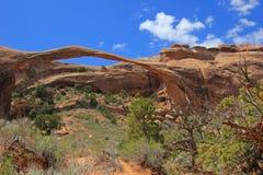 Arco da paisagem no parque nacional dos arcos em Utá, EUA Fotografia de Stock Royalty Free