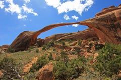 Arco da paisagem no parque nacional dos arcos em Utá, EUA Imagens de Stock Royalty Free