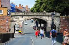Arco da parede da cidade, Chester Imagens de Stock Royalty Free