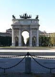 Arco da paz (Milão, Itália) Fotografia de Stock