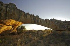 Arco da rocha no nascer do sol Imagens de Stock