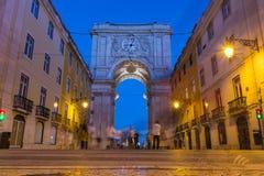 Arco DA Rua Αουγκούστα ιστορική πόλη ορόσημων μνημείων αρχιτεκτονικής Στοκ Εικόνες