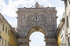 Arco DA Rua Αουγκούστα στη Λισσαβώνα, Πορτογαλία Στοκ εικόνες με δικαίωμα ελεύθερης χρήσης