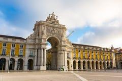 Arco da Rua Augusta Architecture Monument Historic Landmark stad arkivbilder