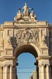 Arco da Rua Augusta in Praça do Comercio in Lisbon Royalty Free Stock Photo