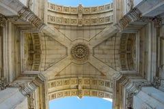 Arco da Rua Augusta. Rua Augusta Triumphal Arch. Lisbon, Portugal. Royalty Free Stock Photo