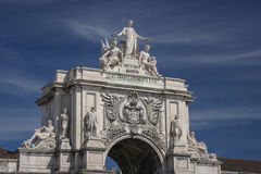 Arco da Rua Augusta. Stone triumph-like arch in Lisbon, Portugal Stock Photo