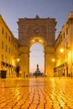 Arco da Rua Augusta at sunrise. Lisbon, Portugal Stock Images