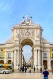 Arco da Rua Augusta, triumphal arch in Lisbon Stock Images