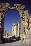 Arco da vitória com grupo da excursão, Fotos de Stock