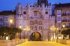 Arco de圣玛丽亚在布尔戈斯 库存图片