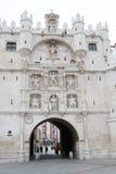 Arco de Σάντα Μαρία στο Burgos (Ισπανία) Στοκ φωτογραφίες με δικαίωμα ελεύθερης χρήσης