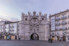 Arco de Σάντα Μαρία Burgos Στοκ εικόνα με δικαίωμα ελεύθερης χρήσης