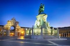 Arco de Augusta em Lisboa fotos de stock royalty free