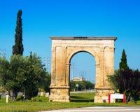 Arco de Bera en Tarragona fotos de archivo