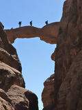 Arco de Burdah no rum do barranco, Jordão. fotografia de stock royalty free