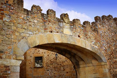 Arco de Caceres αψίδα Λα Estrella στην Ισπανία Στοκ Εικόνες