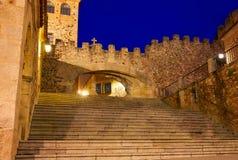Arco de Caceres αψίδα Λα Estrella στην Ισπανία Στοκ Φωτογραφία