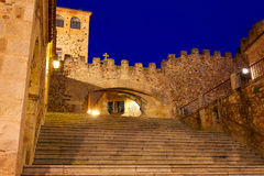 Arco de Caceres αψίδα Λα Estrella στην Ισπανία Στοκ Εικόνα